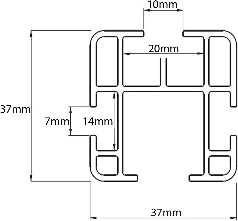 ab 14 2 Stangen VDP Dachtr/äger PRO kompatibel mit Opel Vivaro B
