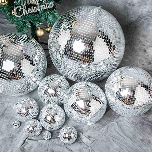 Tableclothsfactory 24'' Groovy Glass Mirror Disco Ball Party Decoration for Wedding Event Birthday Party by Tableclothsfactory (Image #2)