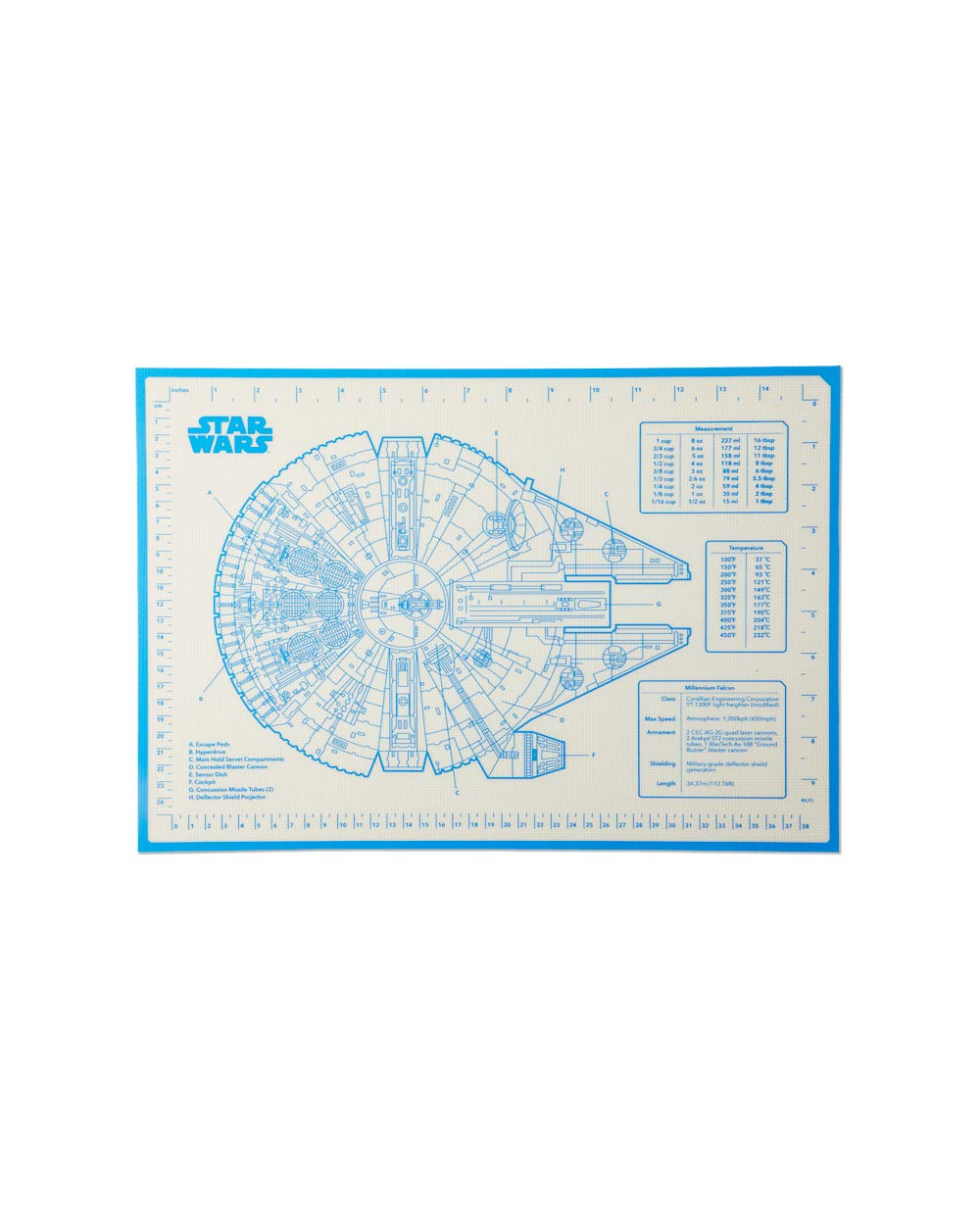 W&P Limited Star Wars Collection Silicone Baking Mat Blanket, Millennium Falcon, Home Essentials, Dishwasher Safe