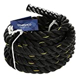 TOMSHOO Battle Rope Strength and Core Training, 1.5-Inch Diameter, 50 Feet Length