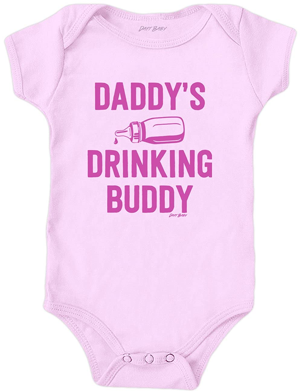 Daft Baby ~ Daddy's Drinking Buddy Funny Baby Onesie