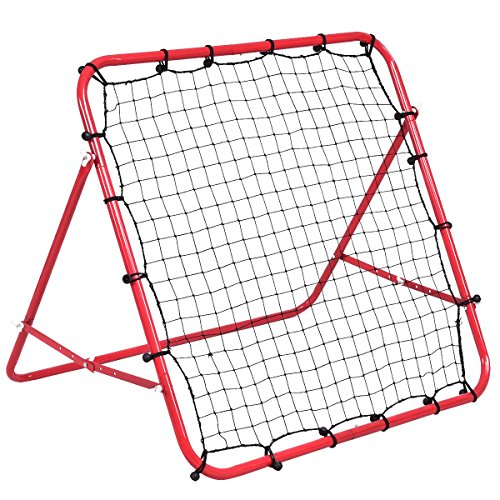 Costway Football Rebounder Football Training Rebound Net Adjustable Soccer...