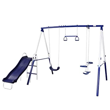 Amazon Com Peach Tree Play Park Swing Set W Slide Swings Air
