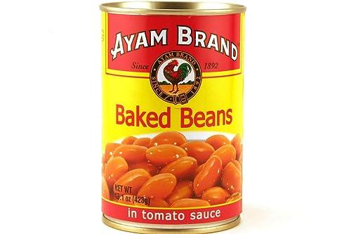 Ayam Pieczona fasola w sosie pomidorowym