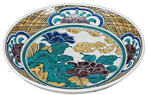 Kutani Yaki Peony 10.8inch Large Bowl Porcelain Made in Japan (Peony Vegetable Bowl)