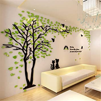 26350e30ba Wall Stickers for Bedroom,Creative, Tree 3D Wall Stickers Living Room TV  Background Wall