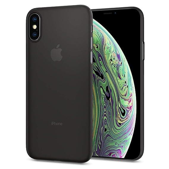 newest e1df4 7acbc Spigen Air Skin Designed for Apple iPhone Xs Case (2018) / Designed for  Apple iPhone X Case (2017) - Black