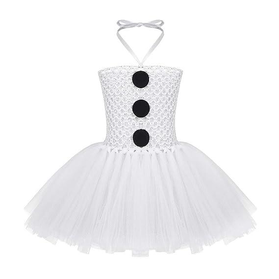 IEFIEL Tutu Blanco Vestido de Ballet Princesa Niña Disfraz ...