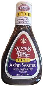 Ken's Steak House Dressing Lite Asian Sesame with Ginger & Soy (2 Pack)