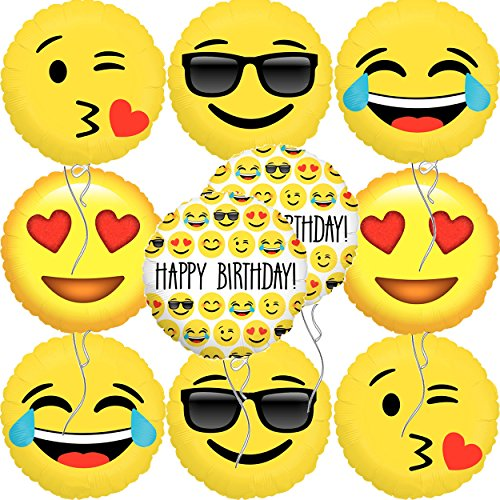 Emoji Happy Birthday Balloons