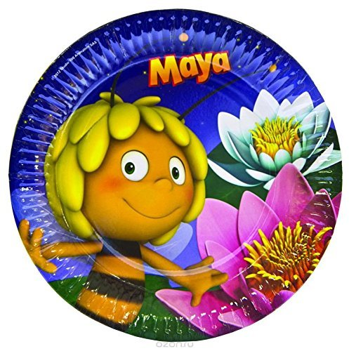 Maya The Bee Party Supplies ([RusToyShop] 6psc plate children's holiday party whistle Maya the bee TABLE PARTY TREATS supplies favors birthday by Maya The)