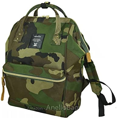 3a21a1ab83d0 Image Unavailable. Image not available for. Color  Japan Anello Backpack  Unisex MINI SMALL CAMO Rucksack ...