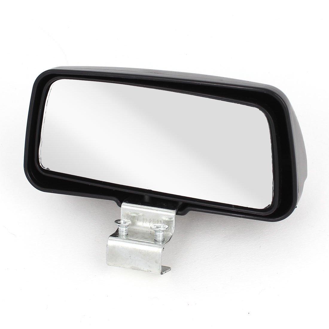 Sourcingmap Auto Rectangle Grand Angle Convexe Ré troviseur Miroir d'angle Mort Noir 11 x 5cm a14110300ux0770