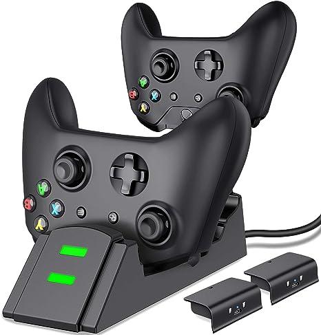 Amazon.com: ESYWEN - Cargador para mando de Xbox One con 2 ...