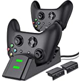 ESYWEN Xbox One Controller Charger Dual Xbox Controller Charging Station with 2X 800mAh Rechargeable Battery Packs for…