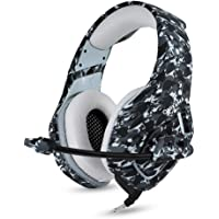 Gaming Headset with Microphone for PS4 PC Xbox One,Stereo Over Ear Gamer Headphones with Mic Camo