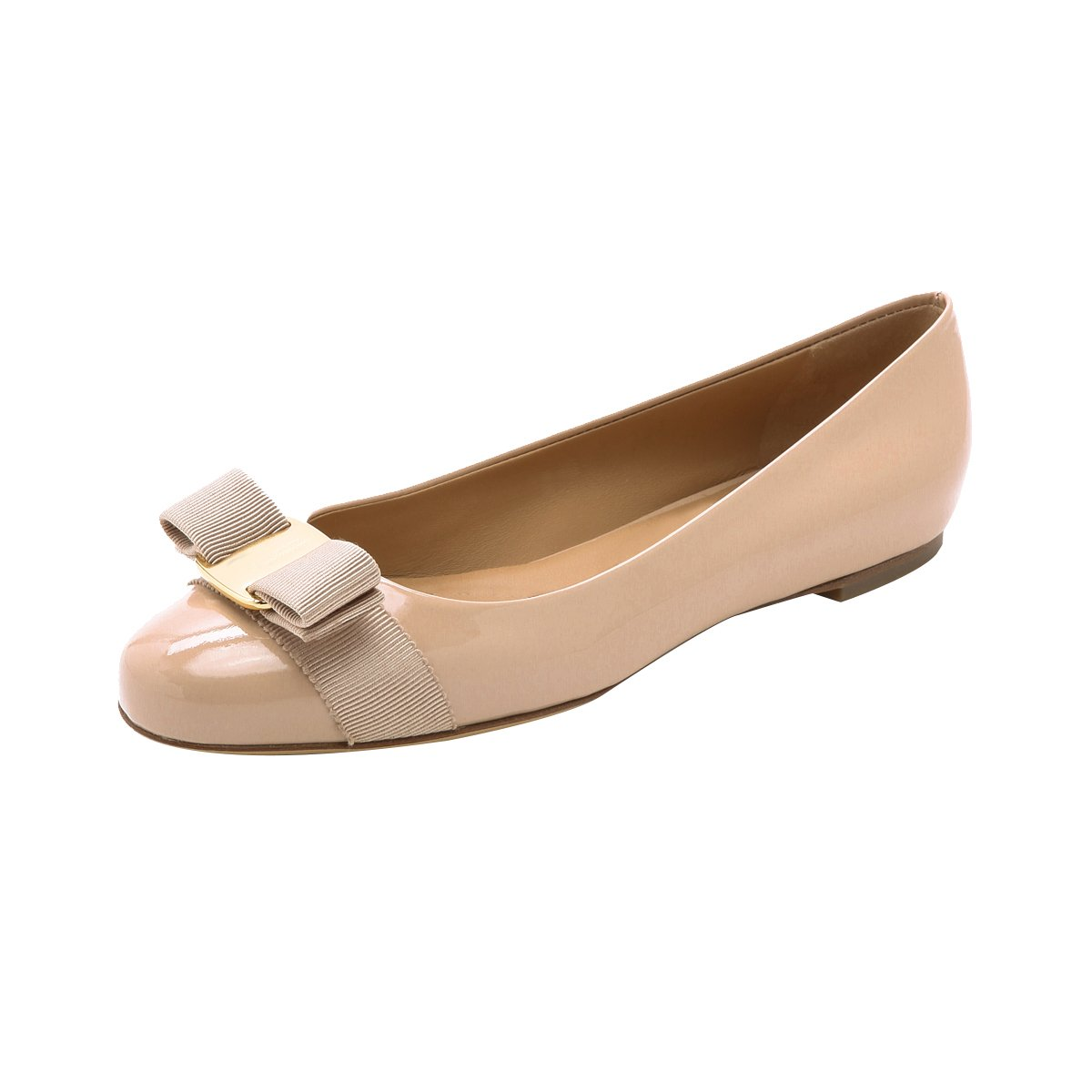 QianZuLian Womens Bowknot Flats Pumps Round head Slip On Dress Shoes Comfort for Home Leisure B0757MJ64Y 10.5 B(M) US|Nude