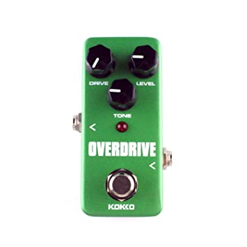 KOKKO FOD3 Mini Overdrive Guitarra eléctrica efecto Pedal Tube Overload Stompbox (Color: verde): Amazon.es: Instrumentos musicales