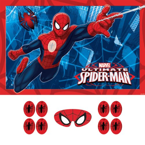 Spider-Man Party Game, épingle l'emblème pour le costume de Spidey, multicolore