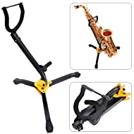 "Luvay Alto/Tenor Sax Stand, Foldable(12"") & Adjustable, Triangle Base Design"
