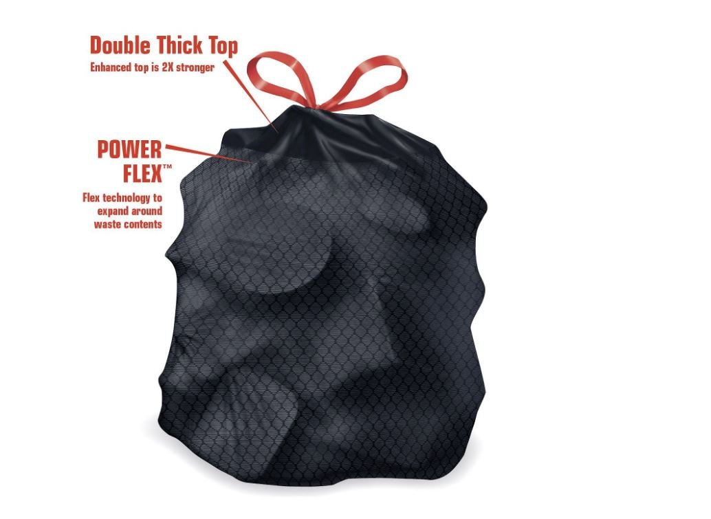39 Gallon Power-Guard Drawstring Yard Bags 2 Packa Where Applicable 90 Count