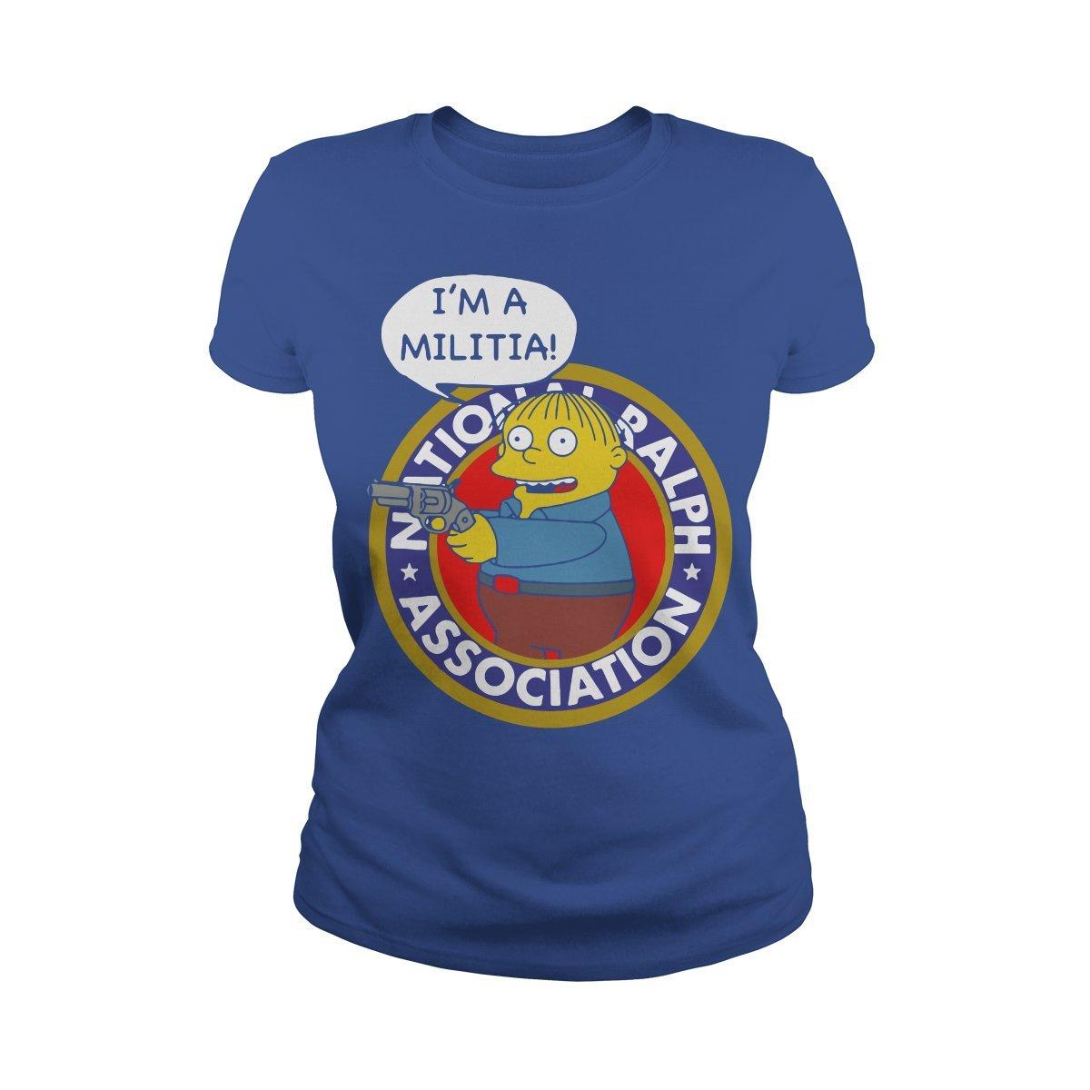 Ladies Tee Royal blueee XXLarge I'm a Militia TShirt