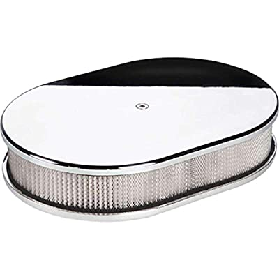 Air Cleaner, Small Oval Plain Polished: Automotive