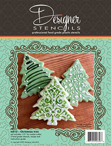 Christmas Tree Cookie Cutter And Stencil Set by Designer Stencils (Icing Tree Cookies Christmas Royal)