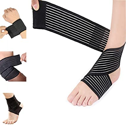 Amazon Com Elastic Knee Brace Compression Bandage Wrap Support