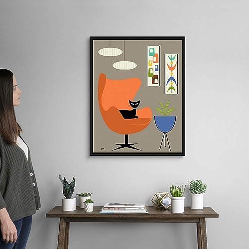 Mini Oblongs and Mobile Black Float Frame Canvas Art