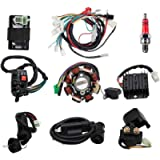 Complete Wiring Harness kit With Electrics Stator Coil CDI Wiring Harness Solenoid Relay Spark Plug For ATV Quad 4 Four…