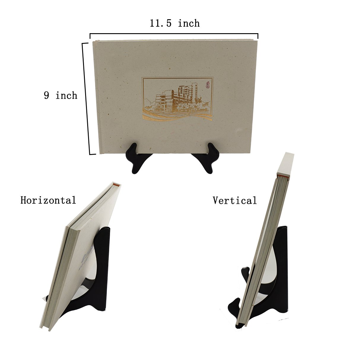 Artliving Black 8 Inch Wood-like Easels Plate Stand Holder Display Stands Picture Frame Stand-Set of 2 by Artliving (Image #6)