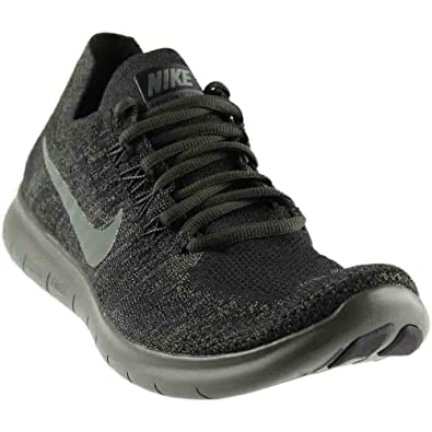 NIKE Mens Free RN Flyknit 2017 Running Shoe (12 D(M) US Black/River Rock/Anthracite)