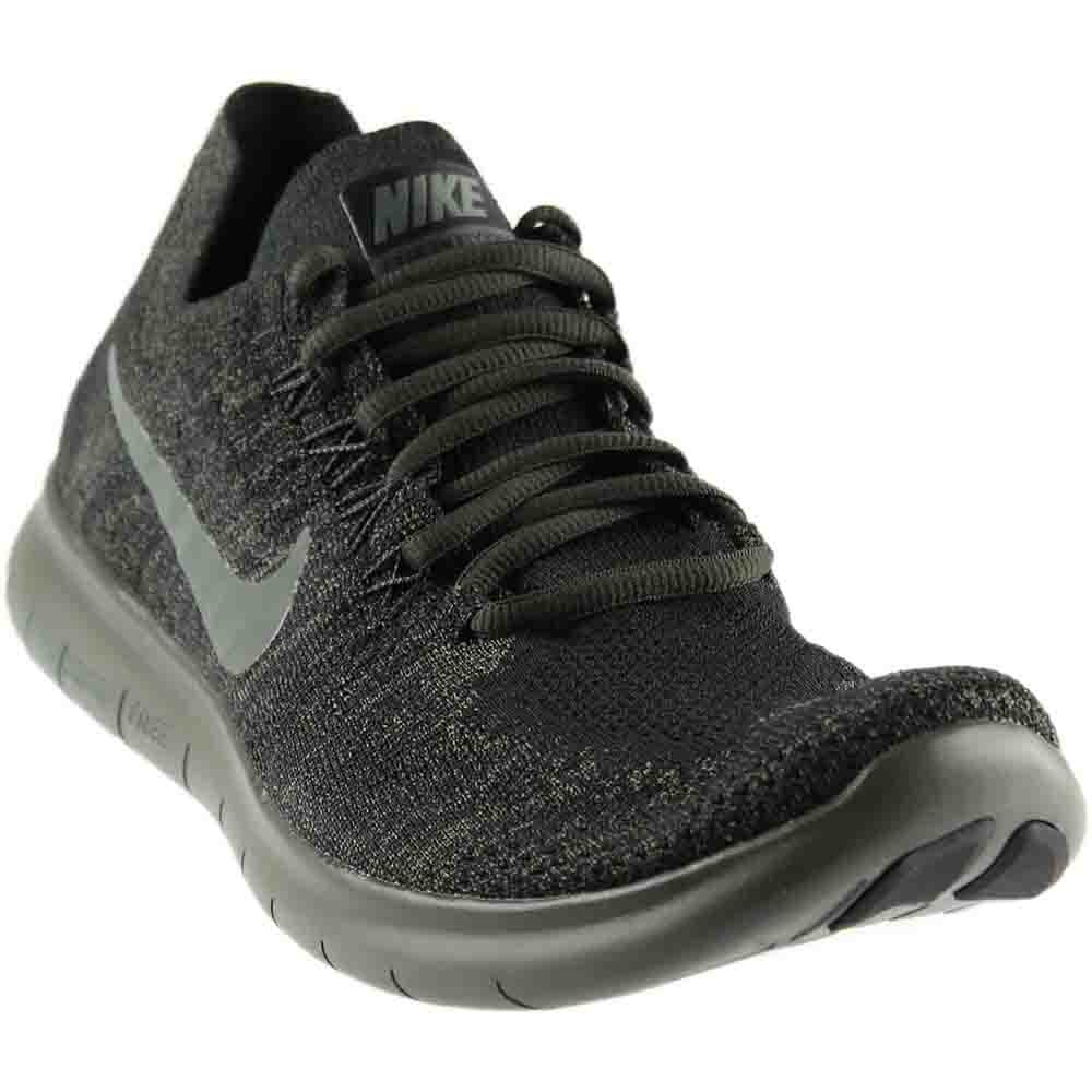 NIKE Mens Free RN Flyknit 2017 Running Shoe (11 D(M) US, Black/River Rock/Anthracite) by NIKE