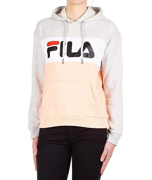 Fila Felpa Donna 687042A064 Cotone Grigio: Amazon.it