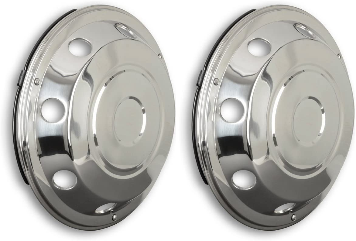 2/x 17.5/Stainless Steel Curved Universal Fit Wheel Trims for Trucks etc. Vans