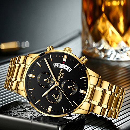 quartz watch watches brand product luxury men fashion time dual golden sports gold image products amuda
