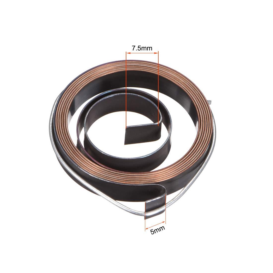 sourcing map 2 unids taladro prensa de resorte de alimentaci/ón de canilla de retorno conjunto de resorte de bobina 680mm 36x8x0.8mm