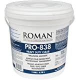 Roman 011301 PRO-838 1 gal Heavy Duty Wallpaper Adhesive, Clear