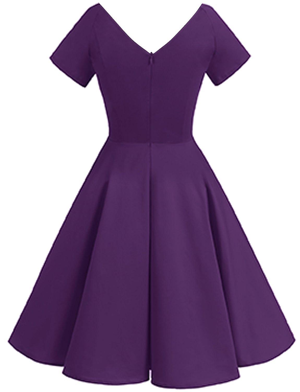 Gardenwed Women\'s Vintage 1950s V-Neck Garden Party Picnic Dress ...