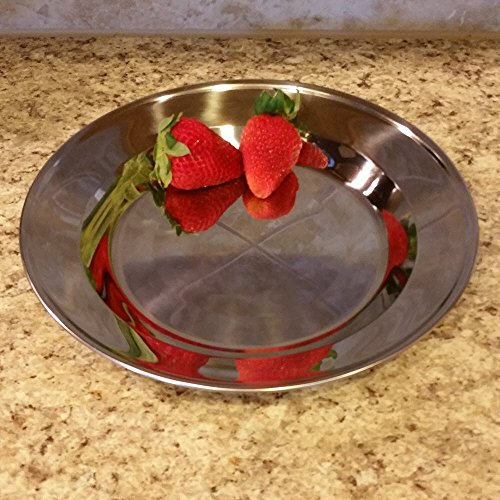 welltree Stainless Steel Plate/Dish Set - Best for Backpacker or Camping, Ideal for Toddlers and Kids by welltree (Image #2)