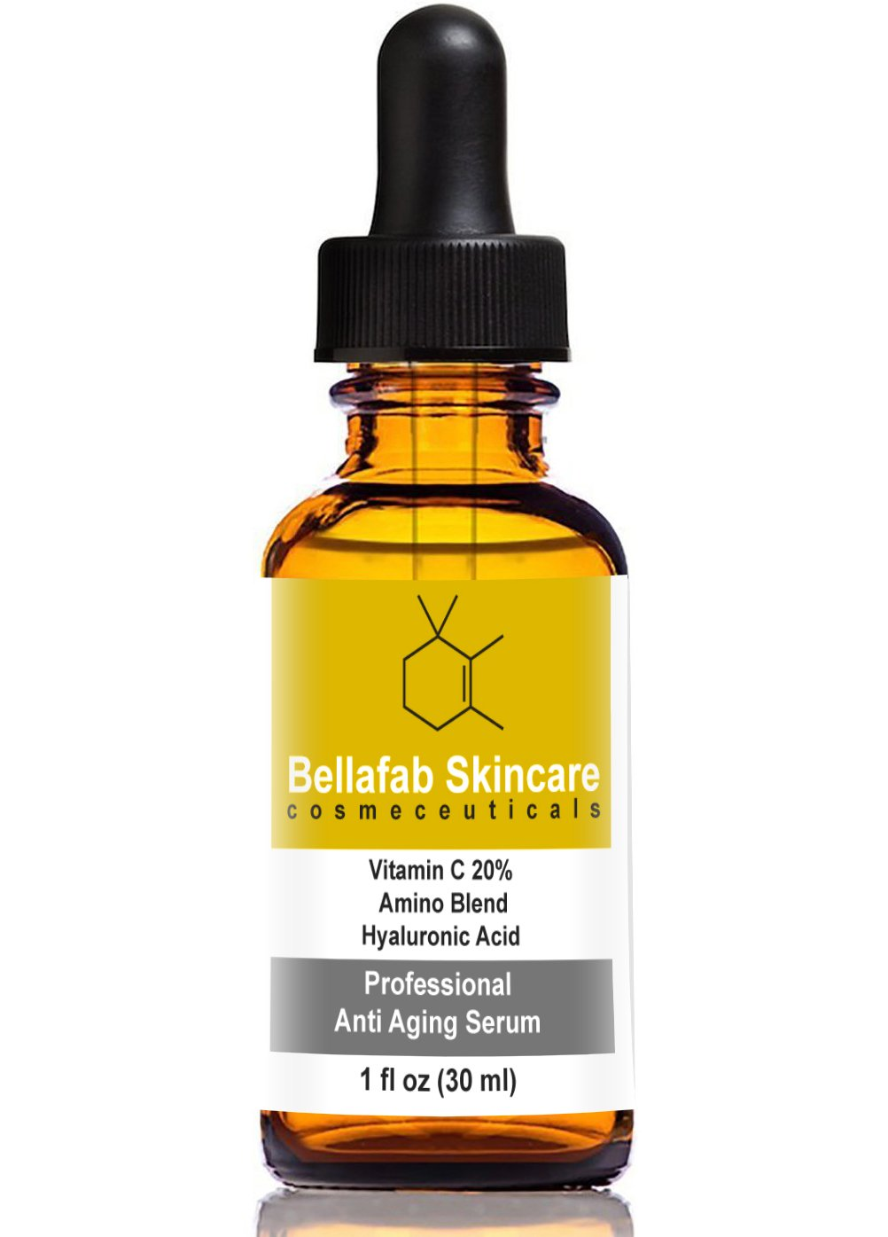 Bellafab Skincare Vitamin C Serum (20%) Innovative Beauty Products w/ Amino Acids & Hyaluronic Acid – Reduce the Look Of Wrinkles, Fine Line, & Dark Spots