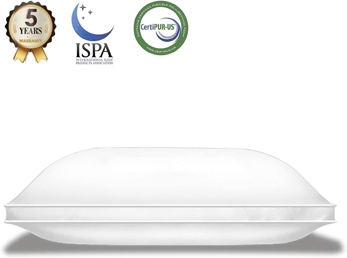 Lunvon Bed Pillows for Sleeping Super Soft Support Cotton Cover Protector Queen Gel Pillows Adjustable Shredded Memory Foam for Home Hotel Luxury Cooling Hypoallergenic CertiPUR-US, White