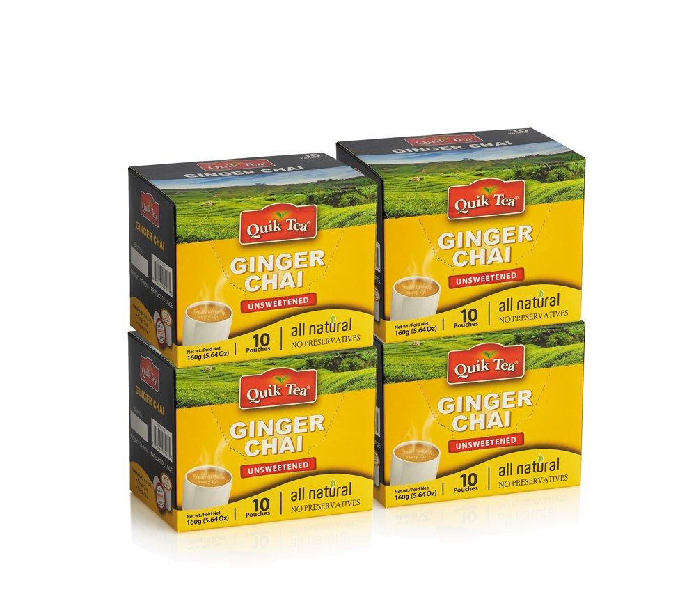QuikTea Unsweetened Tea Latte, Ginger Chai, 640 Gram by QuikTea