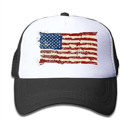 Amazon.com  Kids American Flag US Trucker Hats 7880f224599