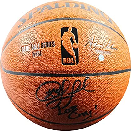 Image of Basketballs NBA Los Angeles Clippers Chris Paul Signed I/O Basketball With 'Lob City'Inscribed