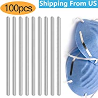 Aluminum Strips Nose Wire,(100PCS) Nose Bridge Strips for Mask,90MM Metal Flat Nose Clips Nose Bridge Bracket DIY Wireor Face DIY Making Accessories Handmade Crafting