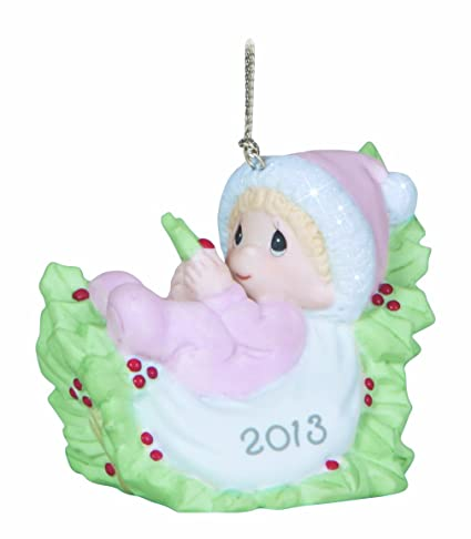 precious moments dated 2013 baby girl first christmas ornament