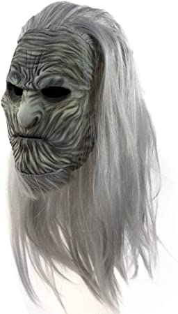 Stastefully Máscara de Halloween máscaras de Halloween Juego de Poder Aterrador Diferente Noche de Fantasmas Rey máscara de Peluca de látex Pelucas de Terror de Halloween Cosplay Alrededor: Amazon.es: Hogar