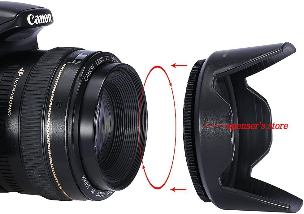 New Professional Universal 67MM Screw-in Tulip Flower Camera Lens Hood